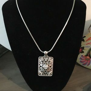 NWT Brighton Pendant Rectangle Necklace Swarovski
